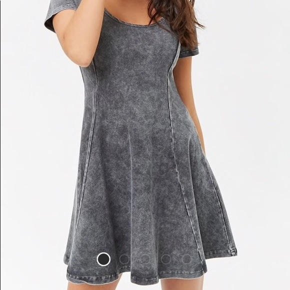 e397c1016d01a NWT Charcoal Oil Wash Skater Dress. NWT. Forever 21